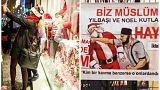 کاج کریسمس در تهران، تحریم بابانوئل در استانبول