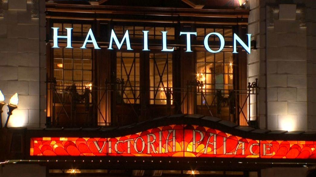 """Hamilton"" opens in London"
