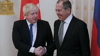 Russian Foreign Minister Sergei Lavrov meets with British Foreign Secretary
