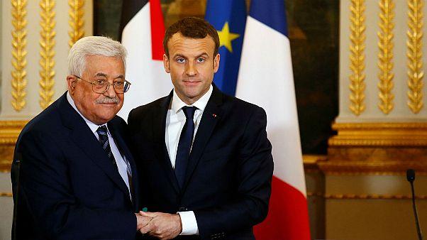 Συνάντηση Μακρόν - Αμπάς στο Παρίσι