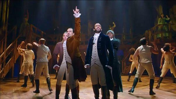 """من العرض المسرحي الموسيقي """"هاميلتون"""""""
