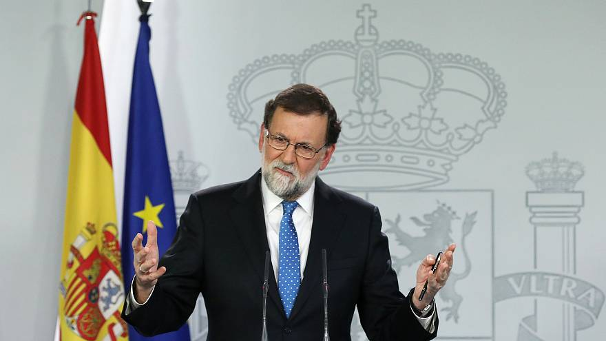 La conferenza stampa di Rajoy al palazzo della Moncloa