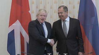 Boris Johnson and Sergei Lavrov clash in Moscow