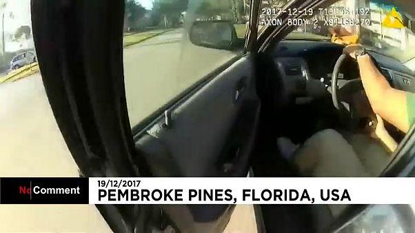 Polícia é arrastado por um carro que fugiu a uma operação stop