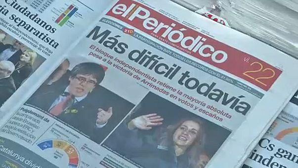 Jornada pós-eleitoral na Catalunha