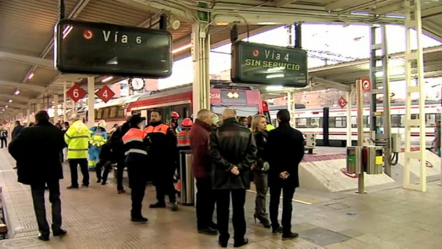 اصطدام قطار بحاجز قرب مدريد