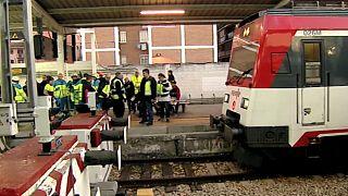 Acidente ferroviário faz 40 feridos em Madrid
