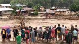 Разрушительный шторм Тембин на Филиппинах