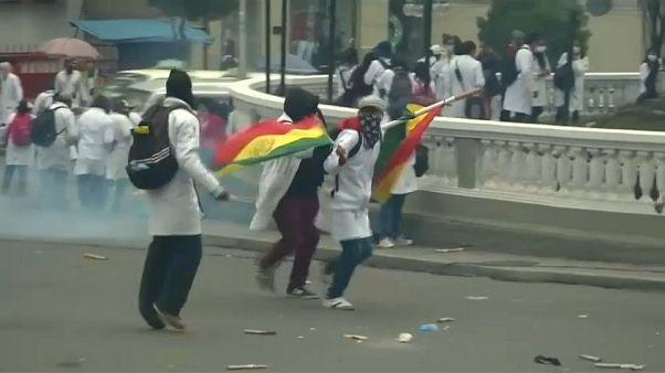 Violentas protestas de los médicos en Bolivia