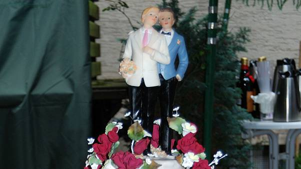 A heterosexual same-sex marriage in Dublin