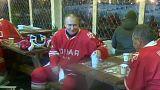 Vladirmir Putin Kızıl Meydan'da buz hokeyi oynadı