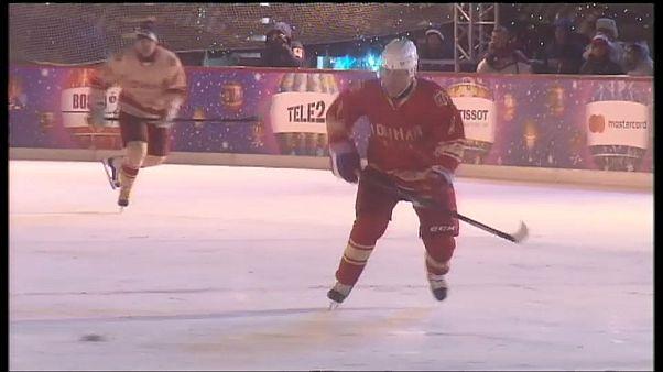 Putin gibt auf dem Eis eine gute Figur ab