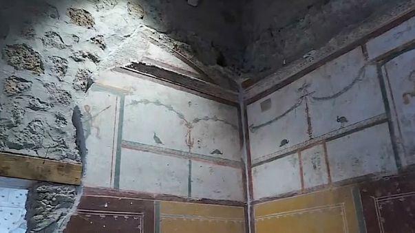 Três novas casas desvendadas em Pompeia