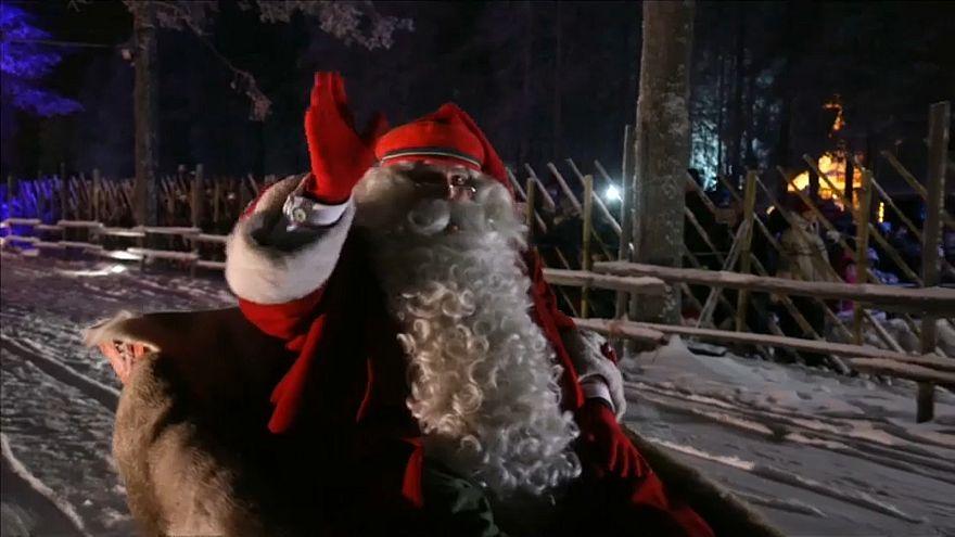 El espíritu de la Navidad impregna Finlandia, Eslovenia y Bielorrusia