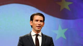 Austria's Chancellor Kurz holds a news conference