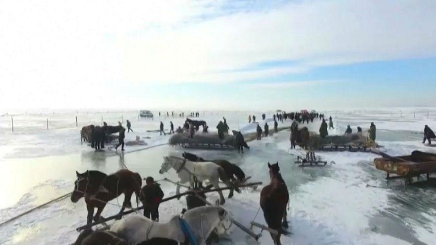 В Китае стартовал сезон подледной рыбалки