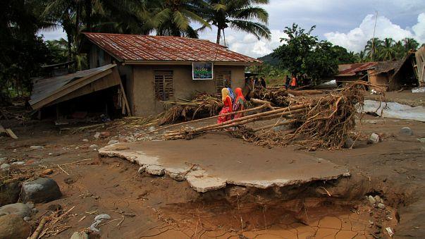 Катастрофические последствия шторма Тембин