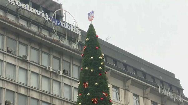 El árbol navideño más caro del mundo está en Serbia