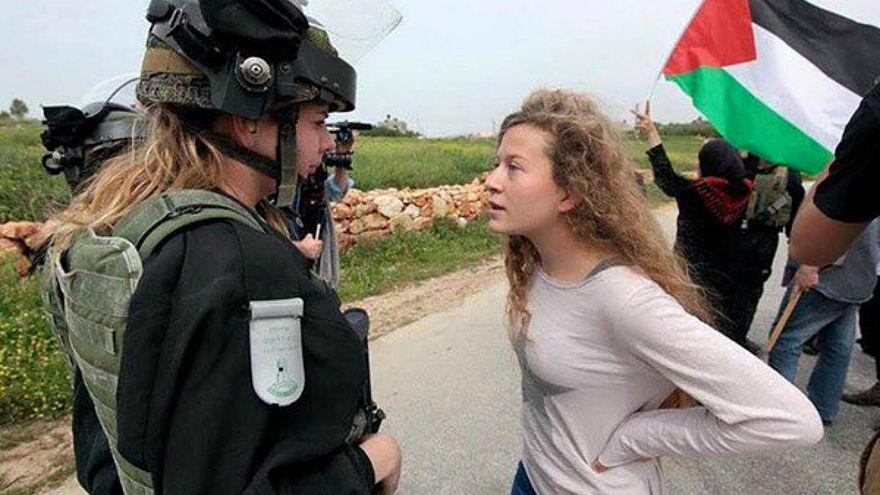 شاهد صمود الفتاة الفلسطينية عهد التميمي في وجه العسف الإسرائيلي