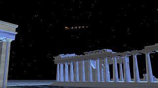 Δείτε τον Άγιο Βασίλη να πετάει πάνω από την Ακρόπολη!
