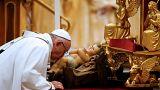 Papst Franziskus an Heiligabend