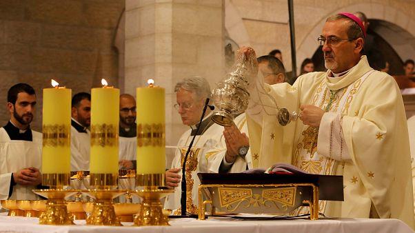 Messe de minuit particulière à Bethléem