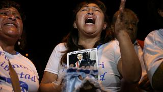 Anhänger von Ex-Präsident Fujimori