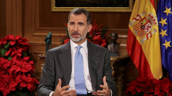 Spain's King Felipe VI delivers his traditional Christmas address