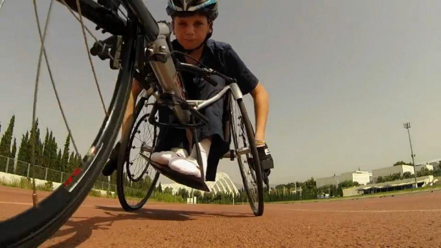 14-year-old refugee from Syria dreams of Paralympics