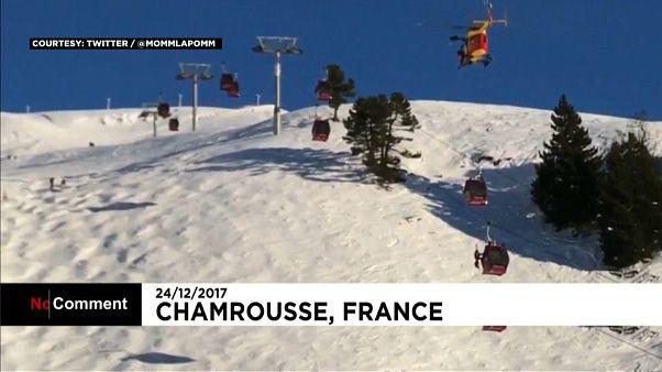 Rescate de altura en los Alpes franceses
