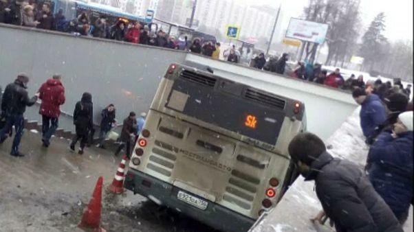 Busz hajtott gyalogosok közé Moszkvában