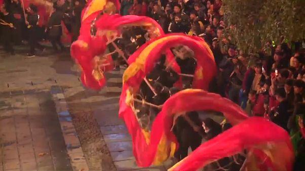 China dragon dance