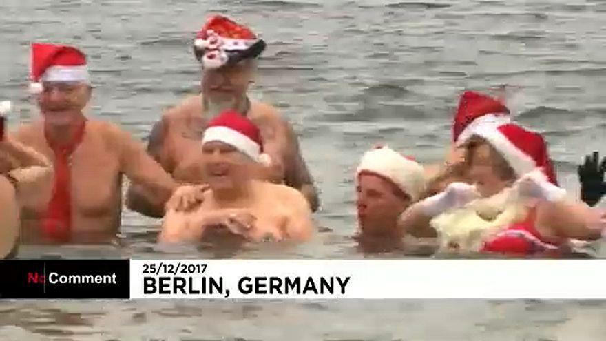 Bains de Noël à Berlin et à Londres