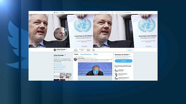 Assange'ın silinen twitter hesabı geri geldi