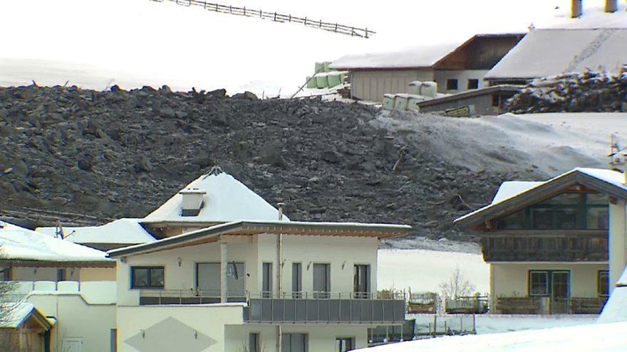 Die Tiroler Gemeinde Fals nach dem Felssturz