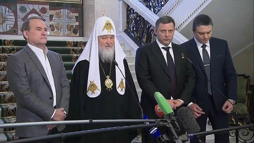 Viktor Medwedtschuk, Patriach Kirill und Vertreter der Separatisten