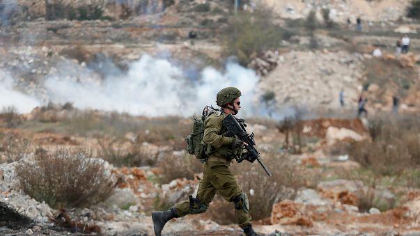 Israelischer Soldat im Westjordanland