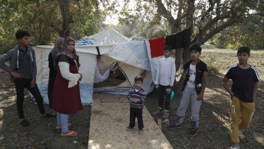 Yunanistan'ın Sakız Adası'nda mültecilere yardım eli