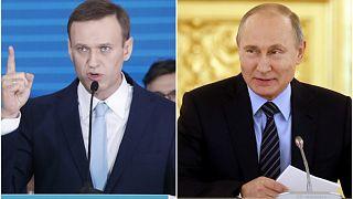 ولادیمیر پوتین و آلکسی ناوالنی
