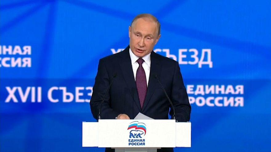 Vladímir Putin oficializa su candidatura a las presidenciales rusas