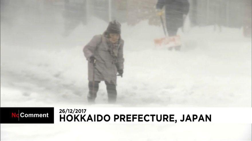 40 Zentimeter Schnee im Norden von Japan