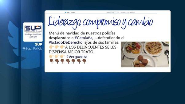 Indignante menú navideño de la Policía en Cataluña