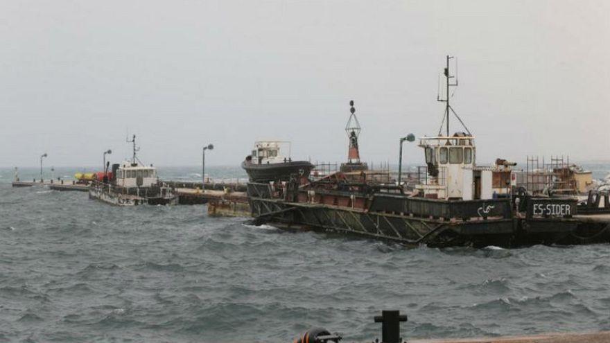 صورة لميناء السدر النفطي الليبي بتاريخ 16 مارس اذار 2017