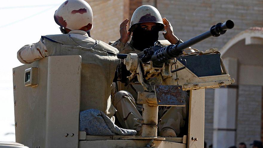 Египетские военные на Синайском полуострове
