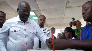 Liberians await presidential election result