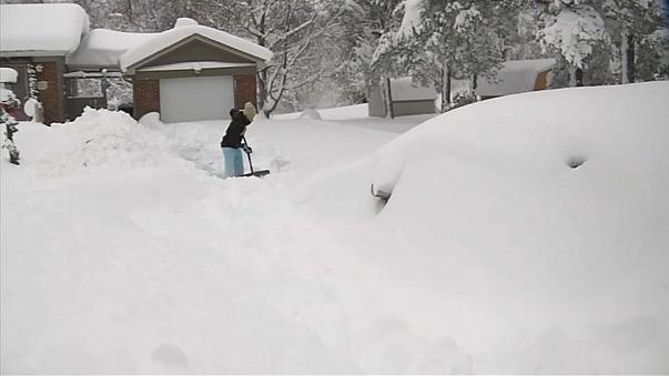 На США обрушились рекордные снегопады