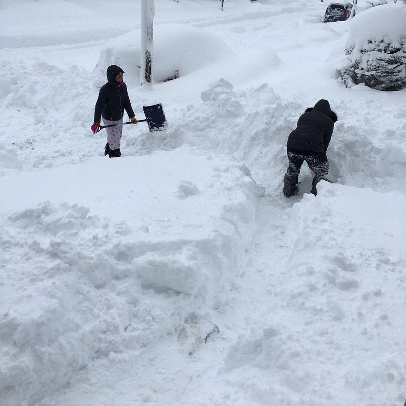 Вштате Пенсильвания выпало рекордное количество снега
