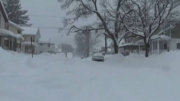 Erie, Pennsylvania  where record amounts of snow has fallen