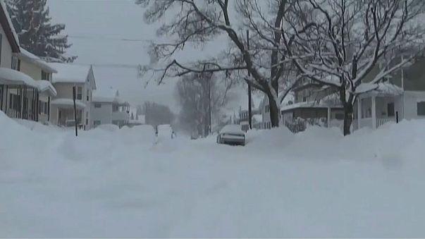 Erie, Pennsylvania  where record amounts of snow has fallen