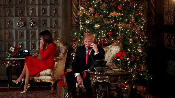 U.S. President Donald Trump and First Lady Melania Trump.